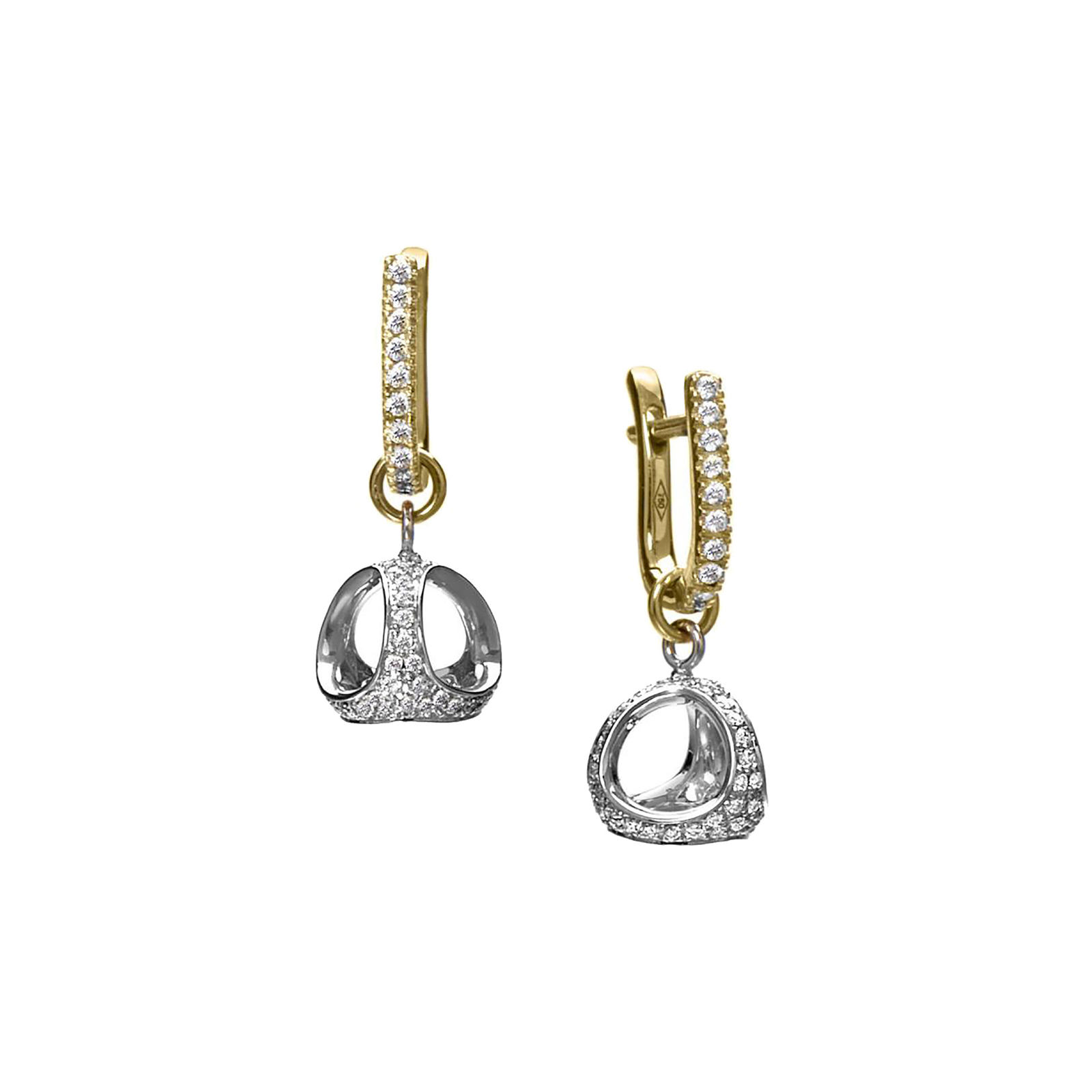 Di Modolo Icona 0.63cttw Diamond Pave Drop Earrings