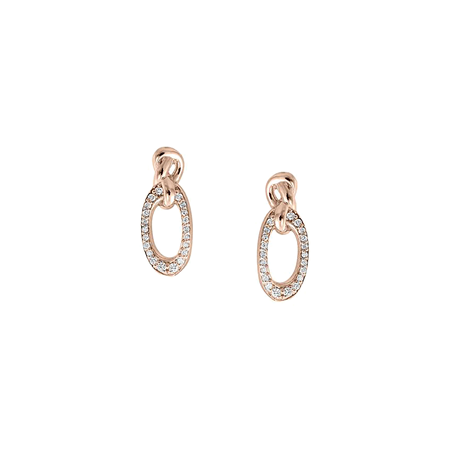 Di Modolo Nodo 18ct Rose Gold 0.15cttw Diamond Pave Earrings