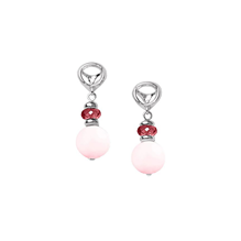 Di Modolo Icona Silver Morganite and Garnet Drop Earrings
