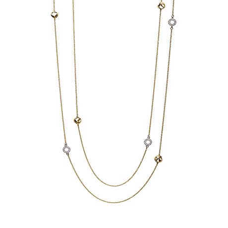 Di Modolo Eterno 18ct White & Yellow Gold Diamond Set Necklace