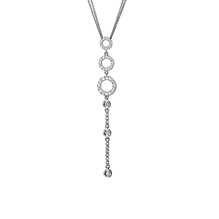 For Her - Di Modolo Eterno 18ct White Gold 0.50cttw Diamond Pave Necklace - N440-2W