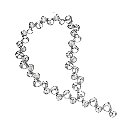 Di Modolo Icona Silver Fresh Water Pearl Necklace