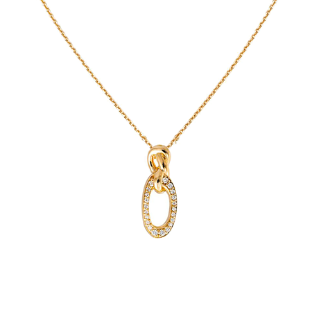 Di Modolo Nodo 18ct Yellow Gold 0.15cttw Diamond Pave Pendant