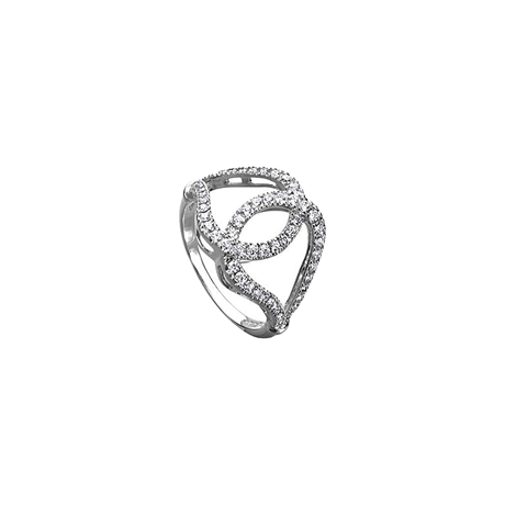 Di Modolo Fiamma 18ct White Gold 0.56cttw Diamond Pave Ring - Ring Size M