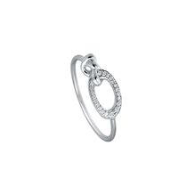 For Her -  Di Modolo Nodo 18ct White Gold 0.09cttw Diamond Pave Ring - Ring Size L - R495-2W