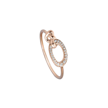 For Her - Di Modolo Nodo 18ct Rose Gold and 0.09cttw Diamond Ring - Ring Size 6.5 - R495-2P
