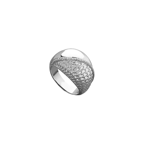 Di Modolo Ricamo Silver and 0.14cttw Diamond Set Ring - Ring Size M