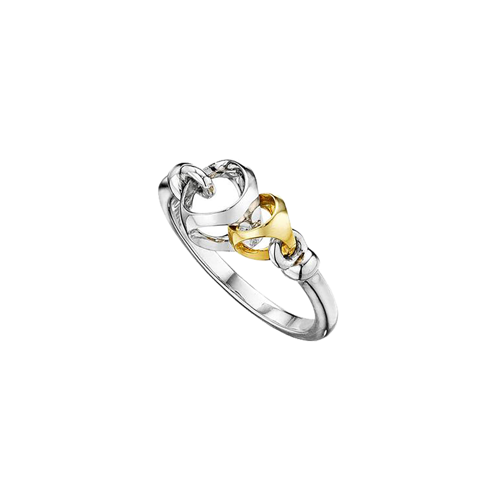 Di Modolo Linked By Love Silver and Gold Ring - Ring Size N