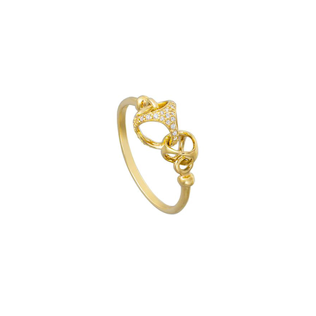 Di Modolo Linked By Love 18ct Gold and 0.13cttw Diamond Ring - Ring Size M.5