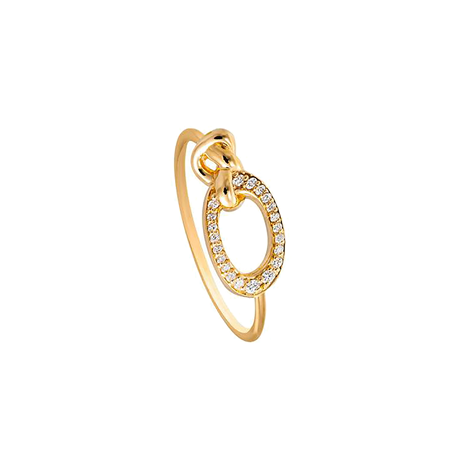 Di Modolo Nodo 18ct Yellow Gold and 0.09cttw Diamond Ring