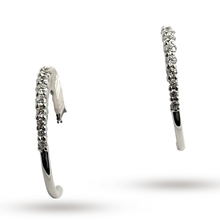 Ponte Vecchio 18ct White Gold 0.32ct Hoop Earrings