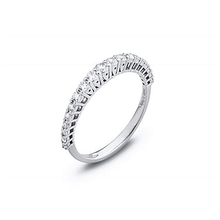Ponte Vecchio brilliant cut 0.31 carat total weight diamond eternity ring in 18 carat white gold