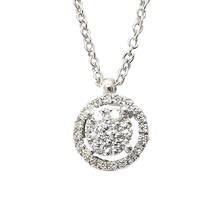 Ponte Vecchio 18ct White Gold 0.15ct Halo Pendant