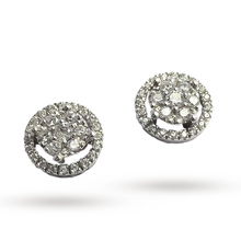 Ponte Vecchio 18ct White Gold 0.30ct Halo Stud Earringss