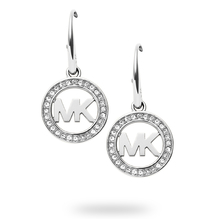 Michael Kors Logo Stainless Steel Drop Earrings