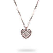 Michael Kors Rose Gold Crystal Pave Heart Pendant
