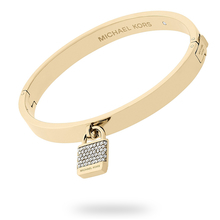 Michael Kors Iconic Gold Tone Pave Bangle