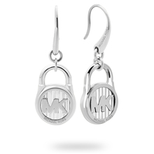Michael Kors Logo Stainless Drop Earrings