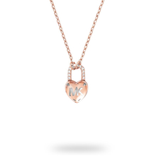 Michael Kors Logo Rose Gold Tone Necklace