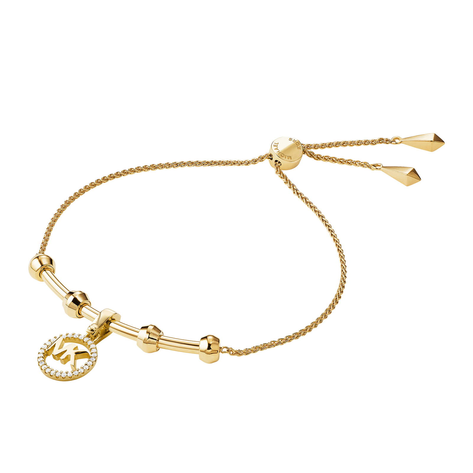 Michael Kors Custom Kors 14ct Gold Plated Charm Bracelet Size M