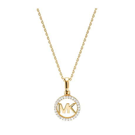 Michael Kors Custom Kors 14ct Gold Plated Charm Necklace