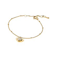 Michael Kors Love 14ct Gold Plated Heart Duo Bracelet