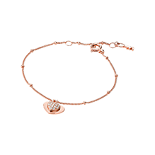 Michael Kors Love 14ct Rose Gold Plated Heart Duo Bracelet
