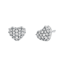Michael Kors Pave Sterling Silver Heart Stud Earrings