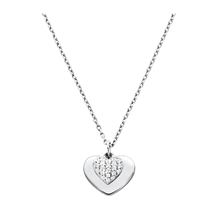 Michael Kors Love Sterling Silver Heart Duo Pendant