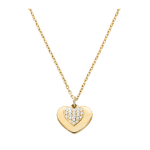 Michael Kors Love 14ct Gold Plated Heart Duo Pendant