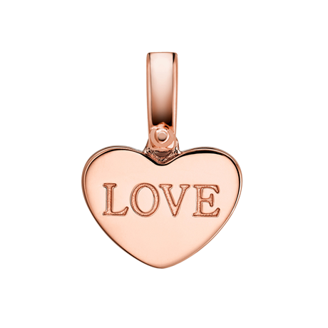 Michael Kors RG Custom Kors 14ct Rose Gold Plated Heart Love Charm