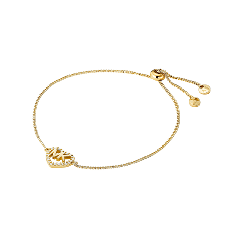 Michael Kors Love Yellow Gold Tone Cubic Zirconia Bracelet