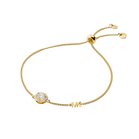 Michael Kors Custom Kors Yellow Gold Plated Bracelet