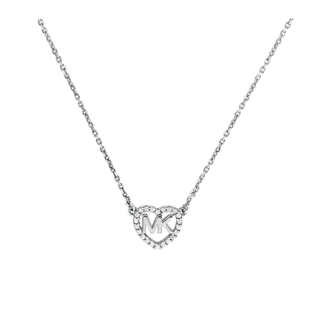 Michael Kors Love Silver Cubic Zirconia Necklace