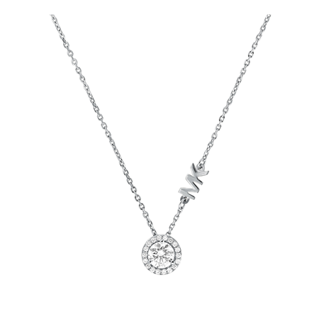 Michael Kors Custom Silver Cubic Zirconia Necklace