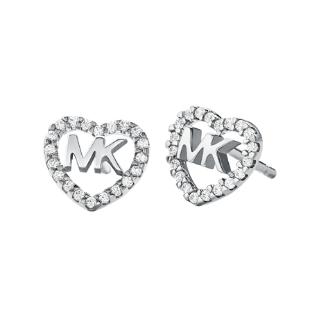 Michael Kors Love Silver Cubic Zirconia Earrings