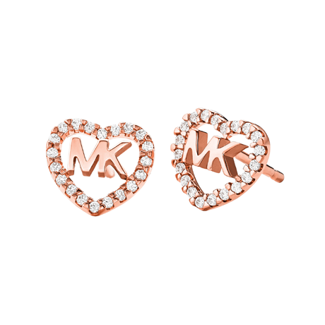 Michael Kors Love Rose Gold Tone Cubic Zirconia Earrings