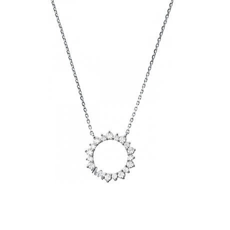 Michael Kors Sterling Silver Circle Pendant