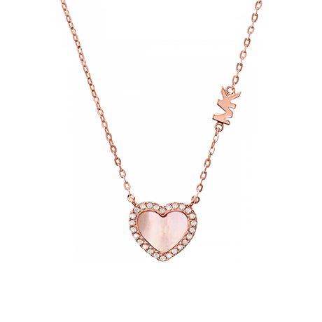 Michael Kors 14ct Rose Gold Plated Heart Pendant