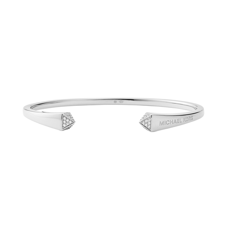 Michael Kors Sterling Silver Pyramid Open Bangle