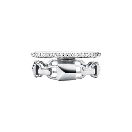 Michael Kors Mercer Link Sterling Silver Prestack Ring Size Small