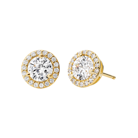 Michael Kors 14ct Gold Plated Halo Stud Earrings