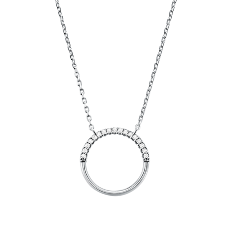 Michael Kors Custom Kors Sterling Silver Circle Necklace