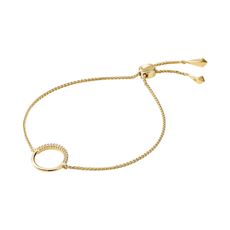 Michael Kors Custom Kors 14ct Gold Plated Circle Bracelet