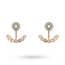 Ted Baker Jewellery Ladies' Rose Gold Plated Coraline Concentric Crystal Earrings