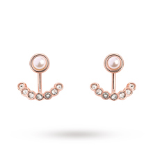 Exclusive Rose Gold Plated Pearl & Crystal Ear Jacket