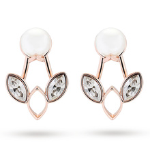 Ted Baker Rose Gold Plated Navii Jacket Style Earrings