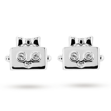 Ted Baker Silver Plated Botto Robot Earrings