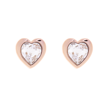 Ted Baker Rose Crystal Heart Earrings