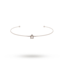 Ted Baker Silver Crystal Star Ultra Fine Cuff